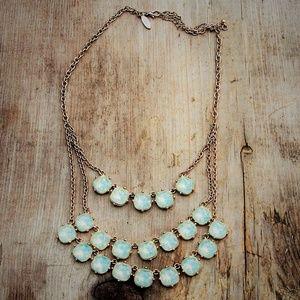 Designer Iridescent Bib Statement Necklace